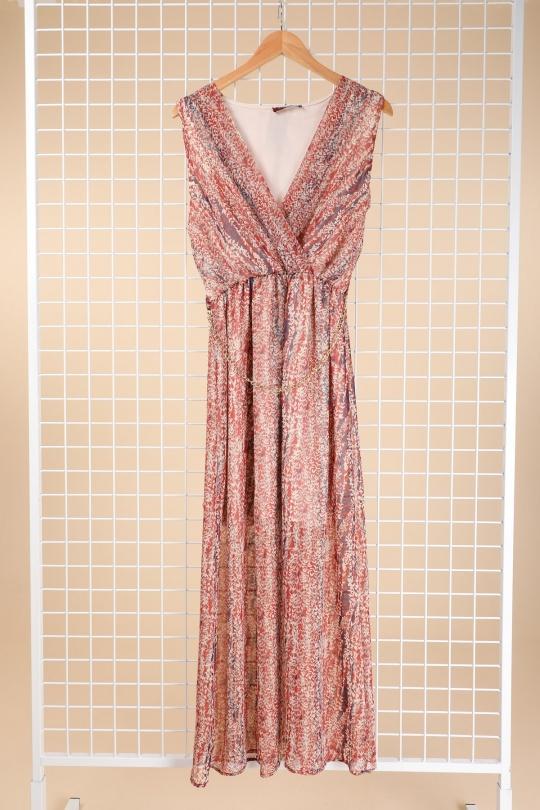 Robes longues Femme Rouge-orangé Esperance 40421 Efashion Paris