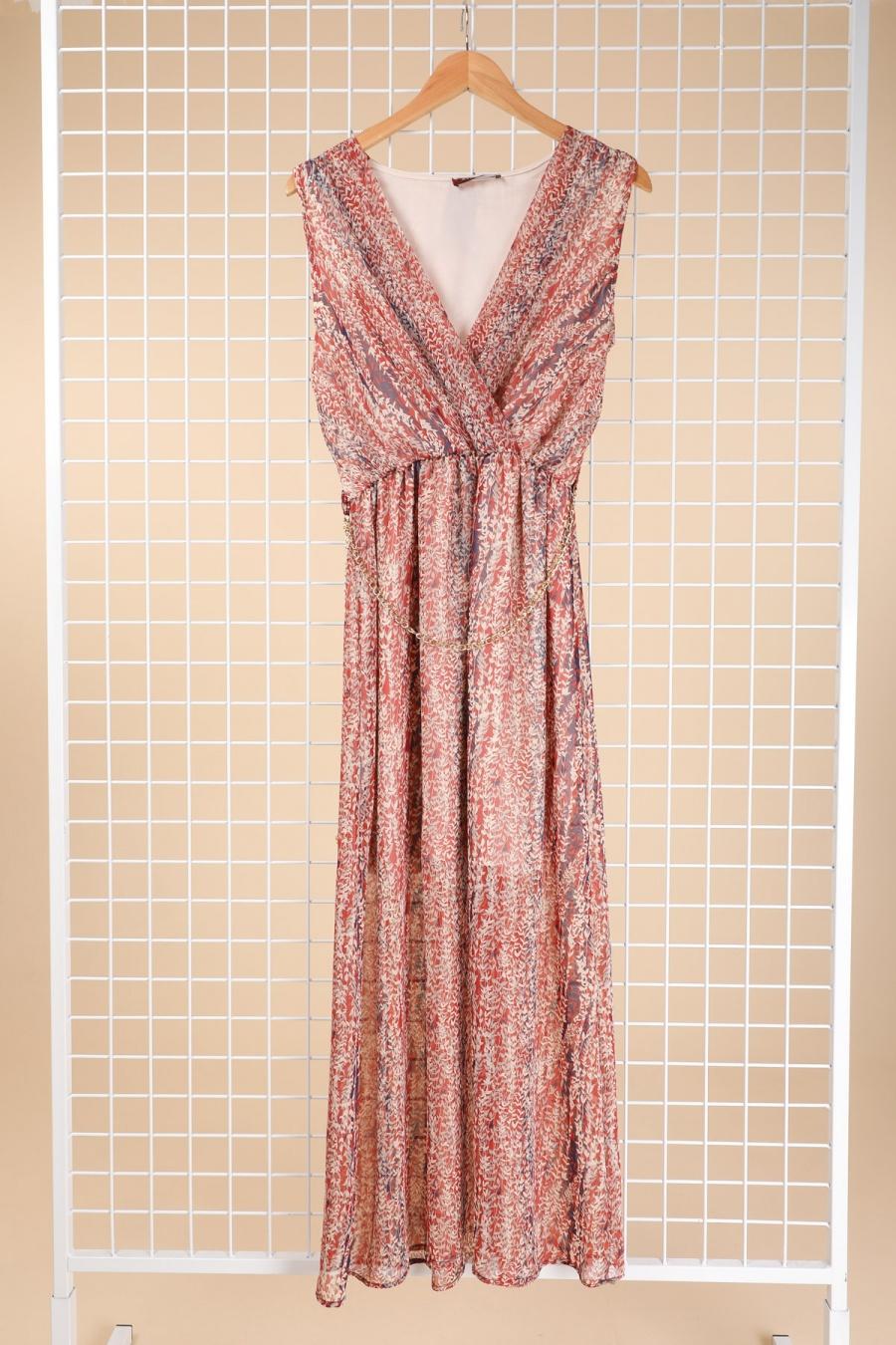 Robes longues Femme Rouge-orangé Esperance 40421 #c Efashion Paris