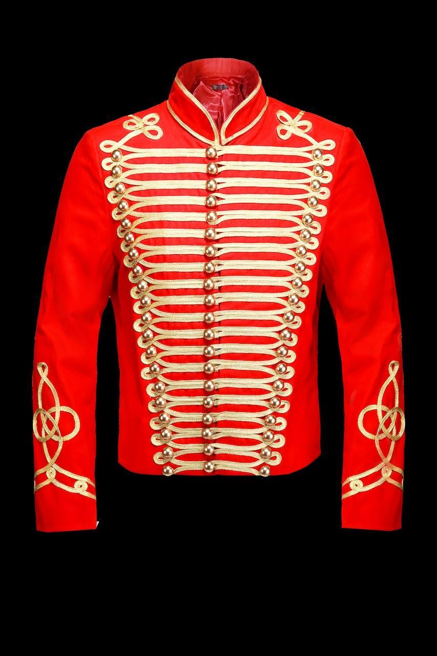 Vestes Homme Rouge pentagramme M080072 ROUGE #c eFashion Paris