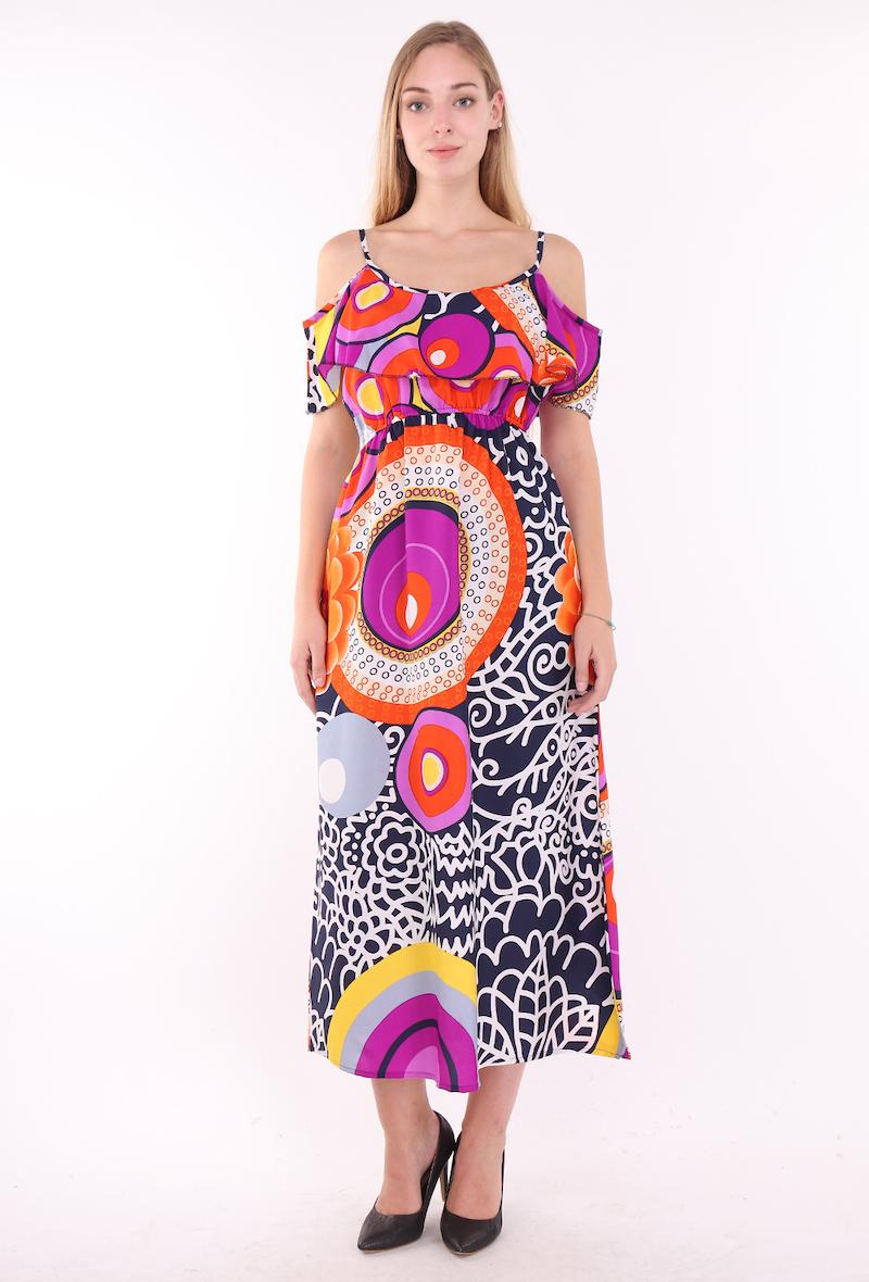 Robes longues Femme Couleurs mélangées I.B DIFFUSION 857 #c Efashion Paris