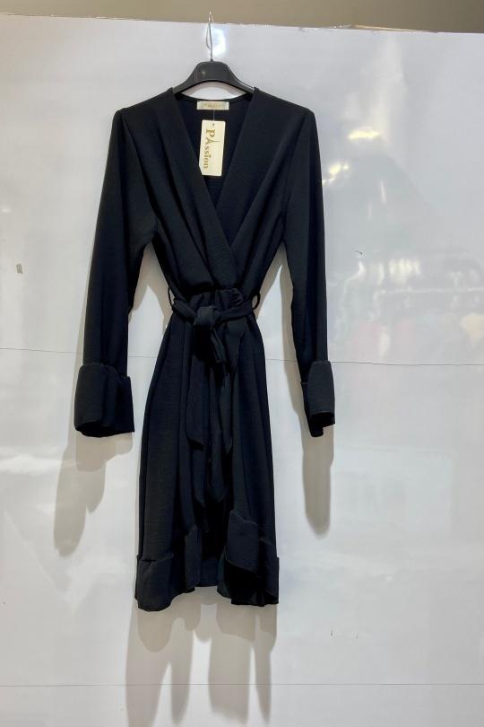 Robes mi-longues Femme Noir NEW PASSION A177 eFashion Paris