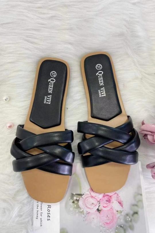 Sandales Chaussures Noir VIVI RICH 837 eFashion Paris