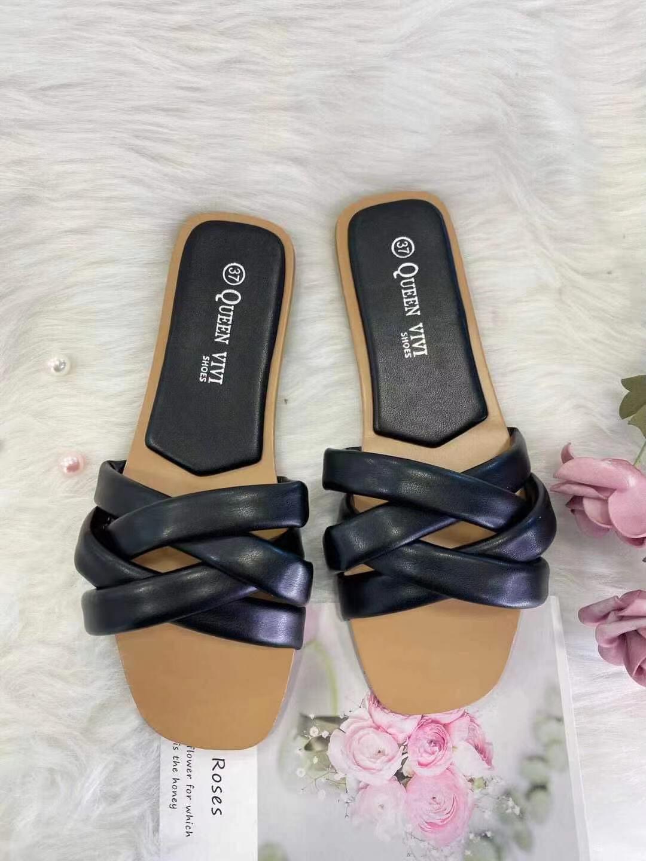 Sandales Chaussures Noir VIVI RICH 837 #c eFashion Paris