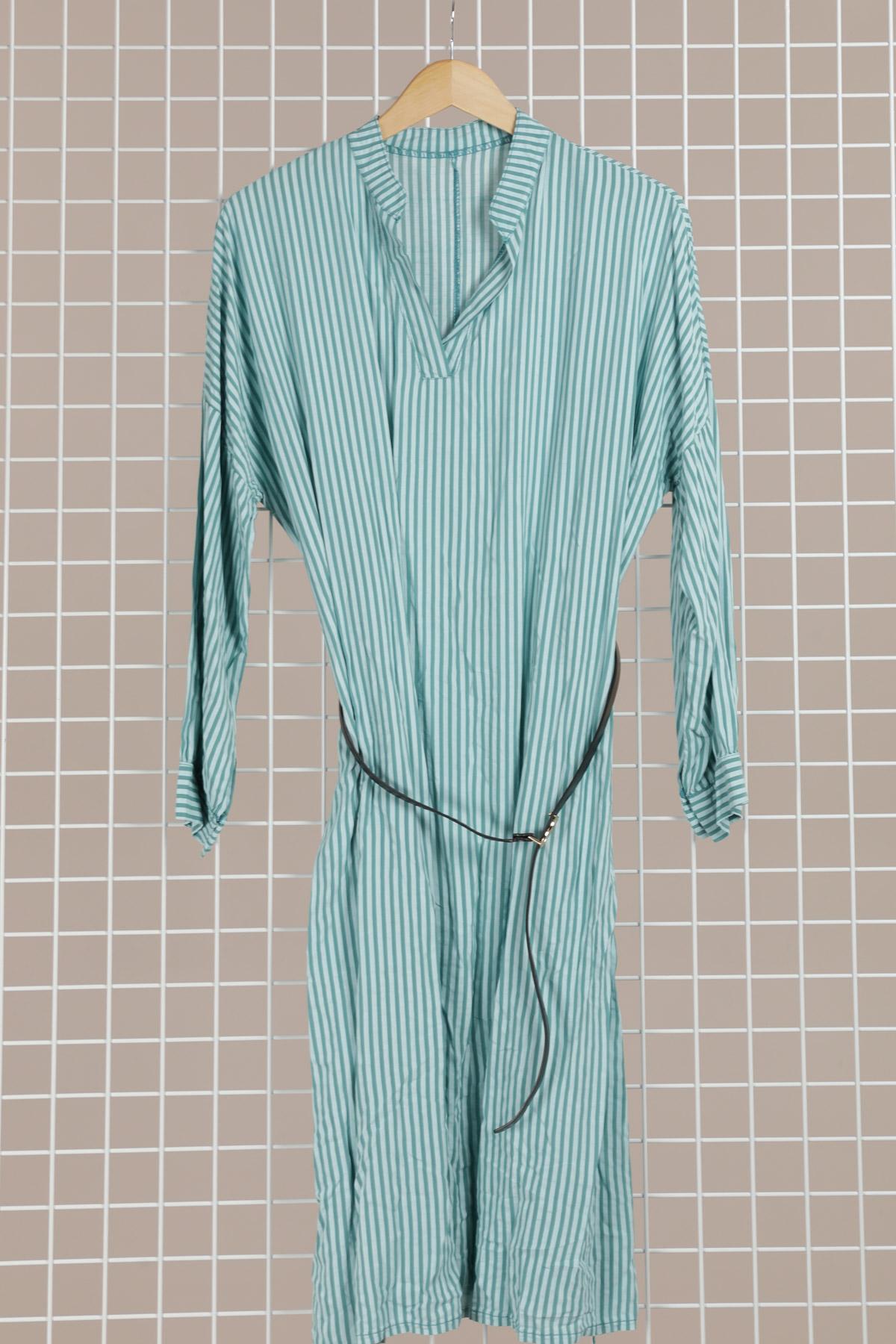 Robes longues Femme Vert d'eau CORALINE 9831 #c eFashion Paris
