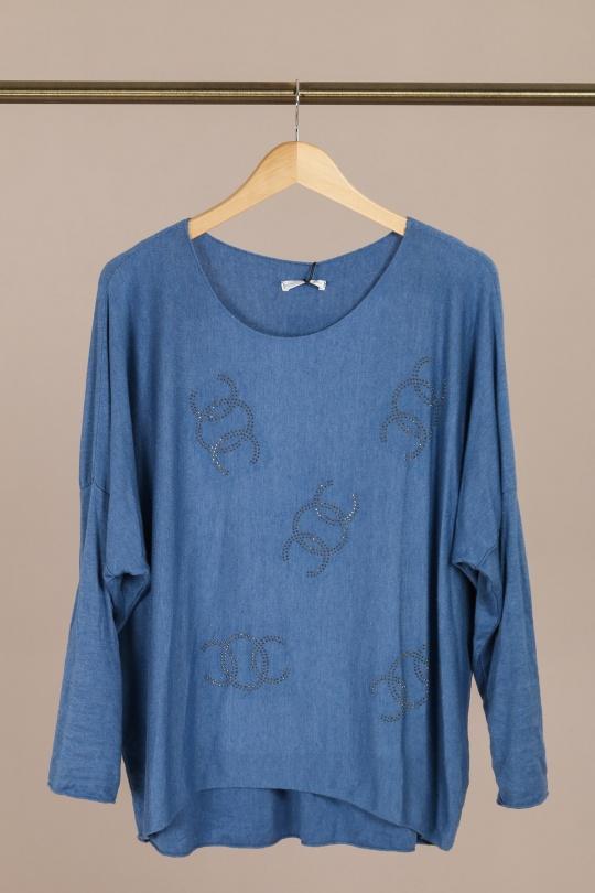 Pulls Femme Bleu JM SAISON PULL 2127 eFashion Paris
