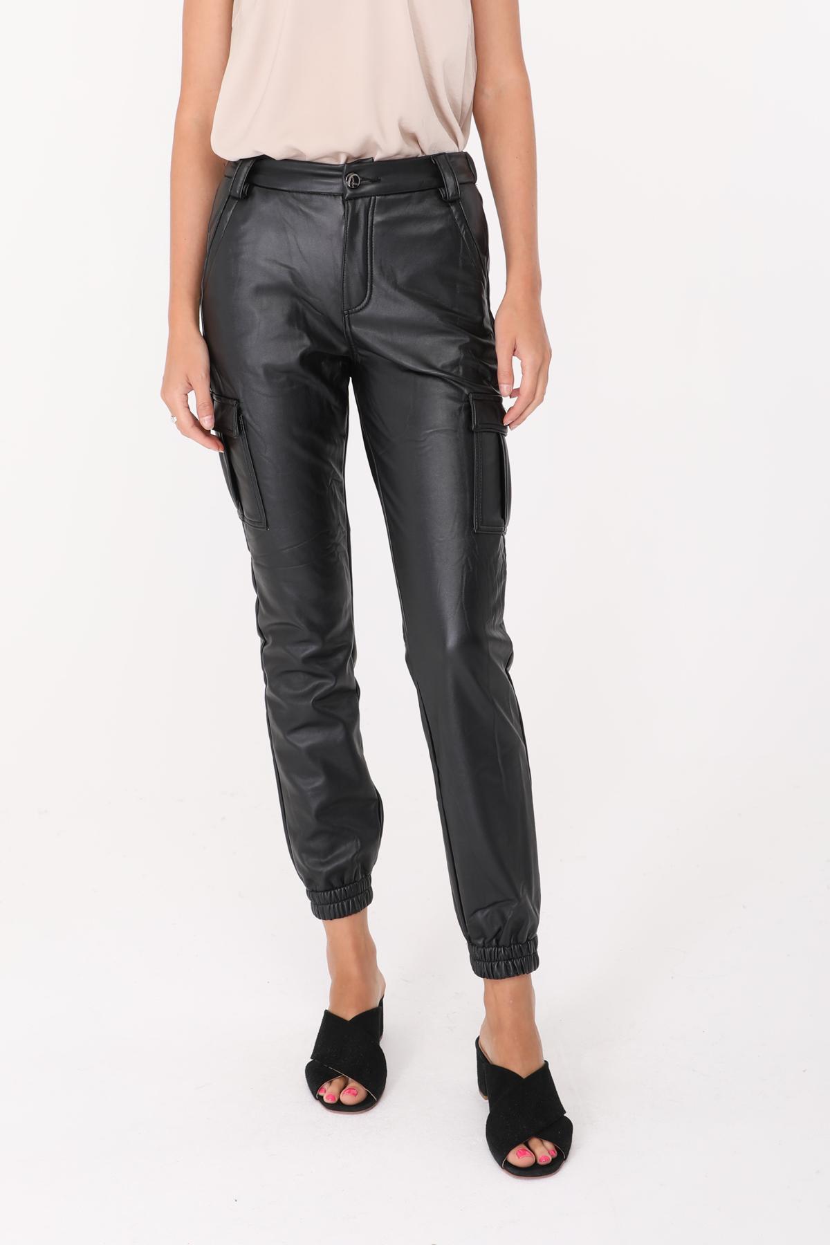 Pantalons Femme Noir Lovita 356 #c eFashion Paris