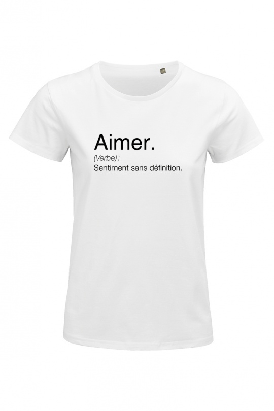 T-shirts Femme Blanc FRENCHY'S BIO FR0001 eFashion Paris