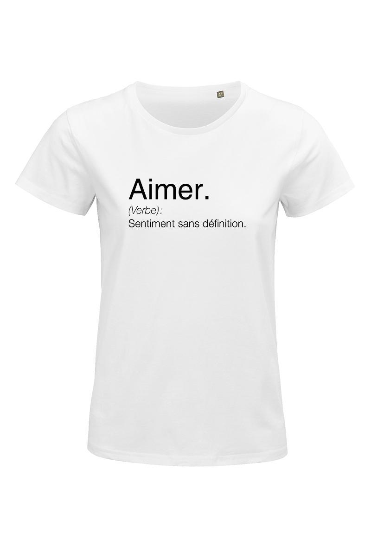 T-shirts Femme Blanc FRENCHY'S BIO FR0001 #c eFashion Paris