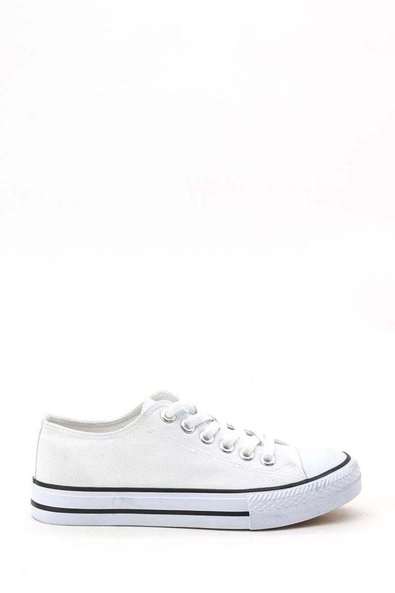 Baskets Chaussures Blanc/noir SUREDELLE 888-1 #c eFashion Paris