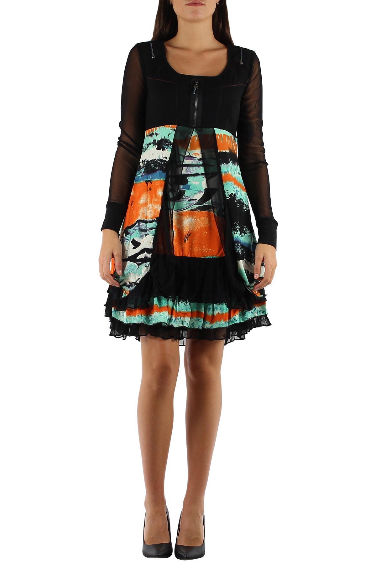 Robes courtes Femme Noir/Vert C FAIT POUR VOUS 598 #c eFashion Paris