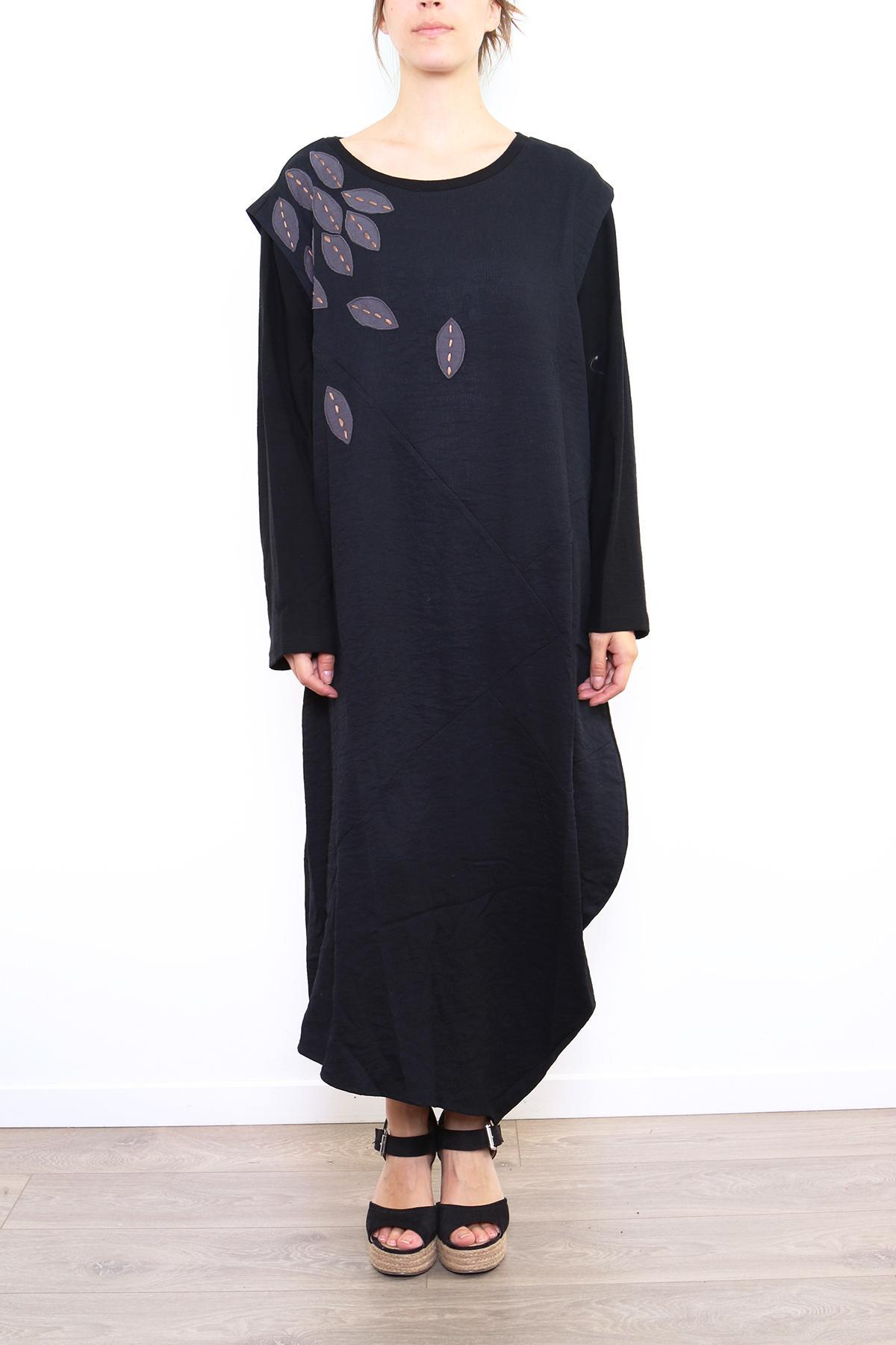 Robes longues Femme Noir C FAIT POUR VOUS Y5012 #c eFashion Paris