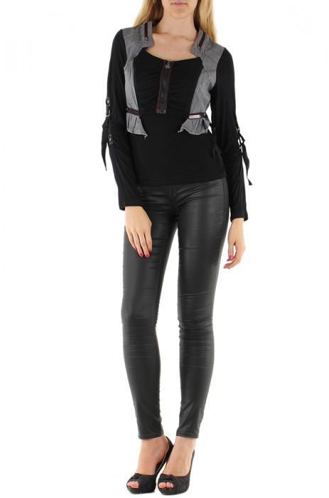 Tops Femme Noir C FAIT POUR VOUS GT-973 #c eFashion Paris
