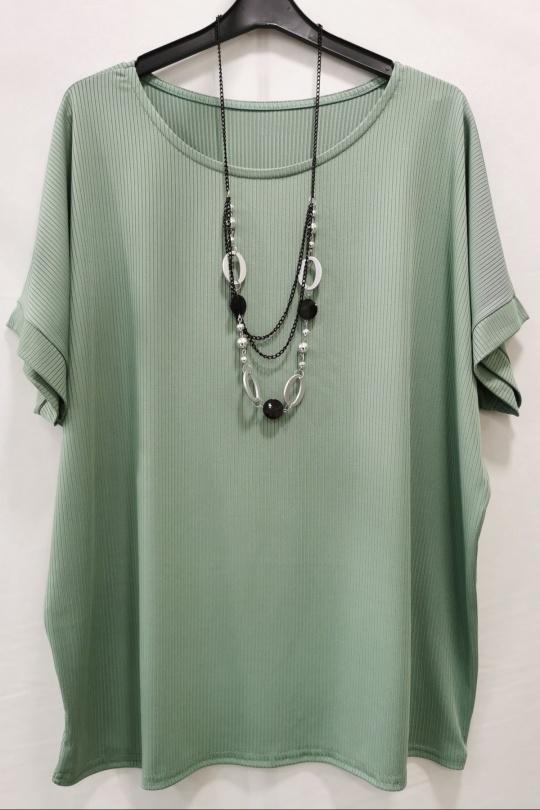 Blouses Femme Vert m s fashion 2101 Efashion Paris