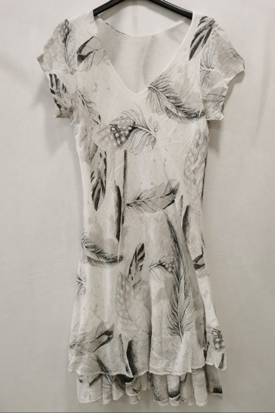 Robes longues Femme Blanc m s fashion 2109 eFashion Paris
