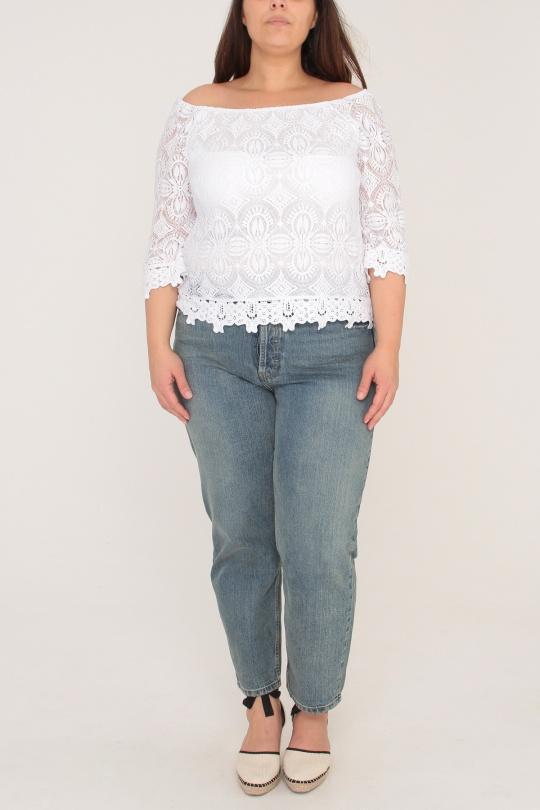 T-shirts Femme Blanc VETI STYLE 91002 eFashion Paris