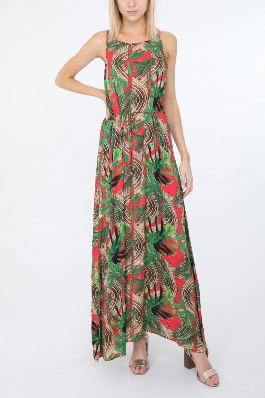 Robes longues Femme Rouge Ki & Love  KL110-263# eFashion Paris