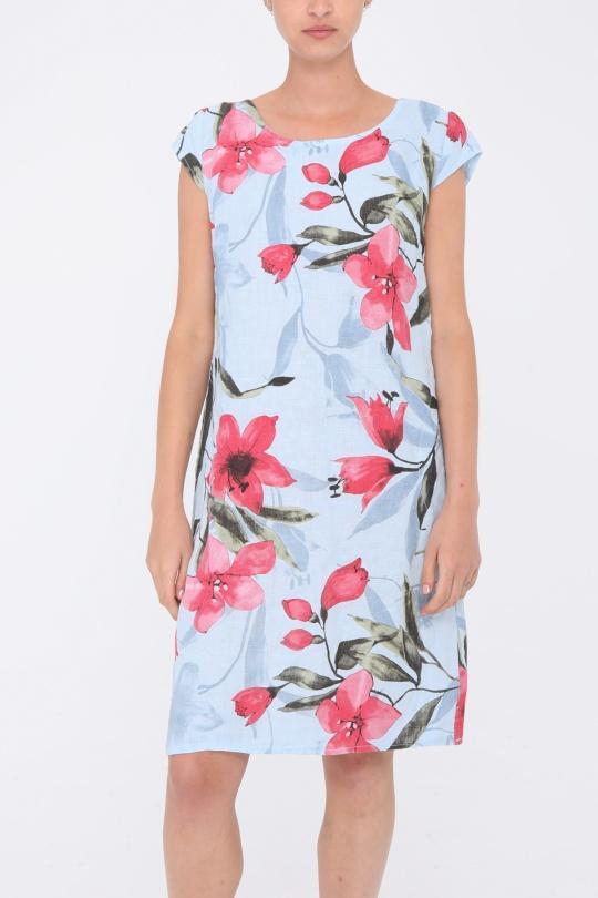 Robes courtes Femme Bleu ciel Ki & Love  JM2040 eFashion Paris