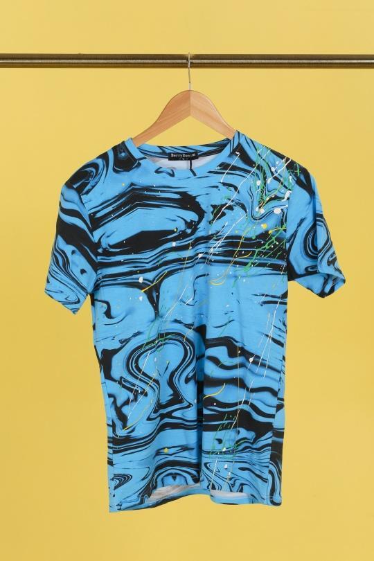 T-shirts Homme Bleu BERRYDENIM BJ025 eFashion Paris