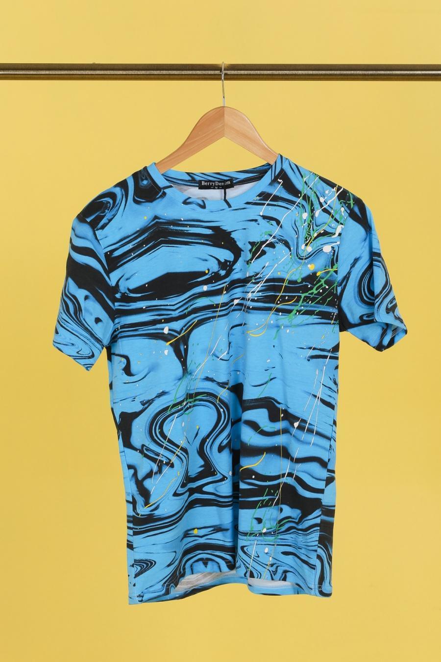 T-shirts Homme Bleu BERRYDENIM BJ025 #c eFashion Paris