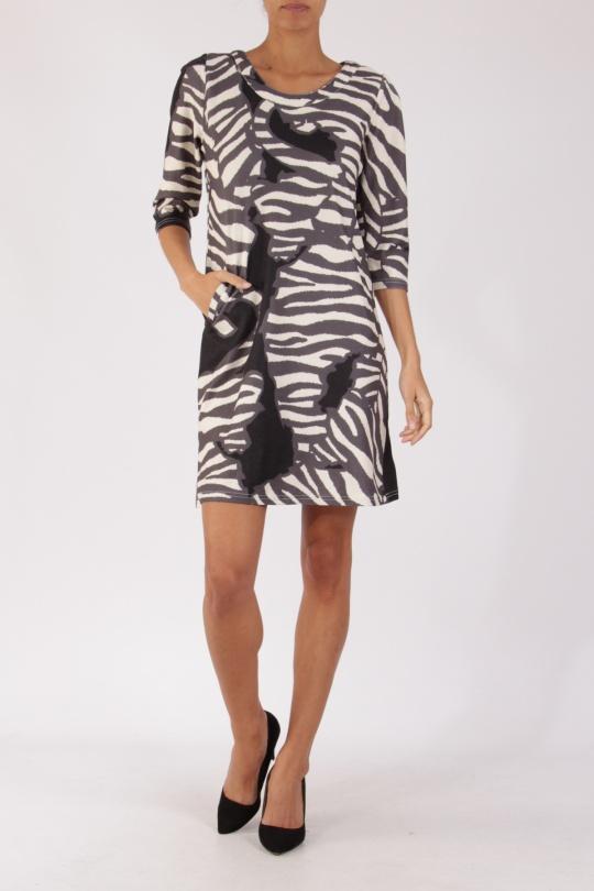 4e733b94e087 Robes courtes Femme Gris Lulu H H6170 F2  c eFashion Paris