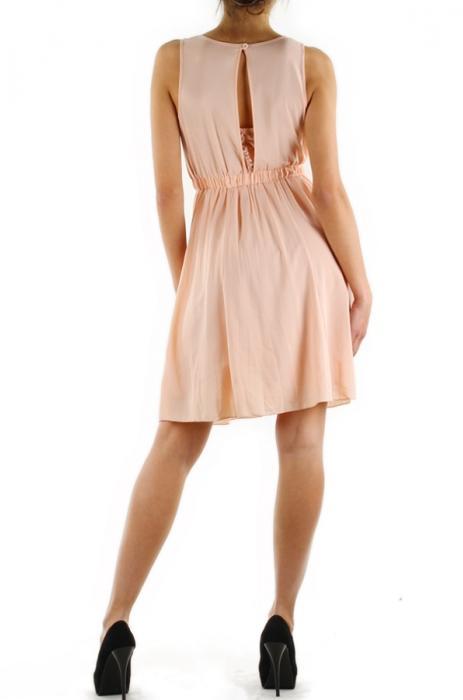 robes courtes femme h3233 rose pale lulu h efashion paris. Black Bedroom Furniture Sets. Home Design Ideas