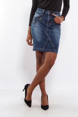 Jupes Femme B532-BLEU JEAN C.DENIM by ZAC & ZOE