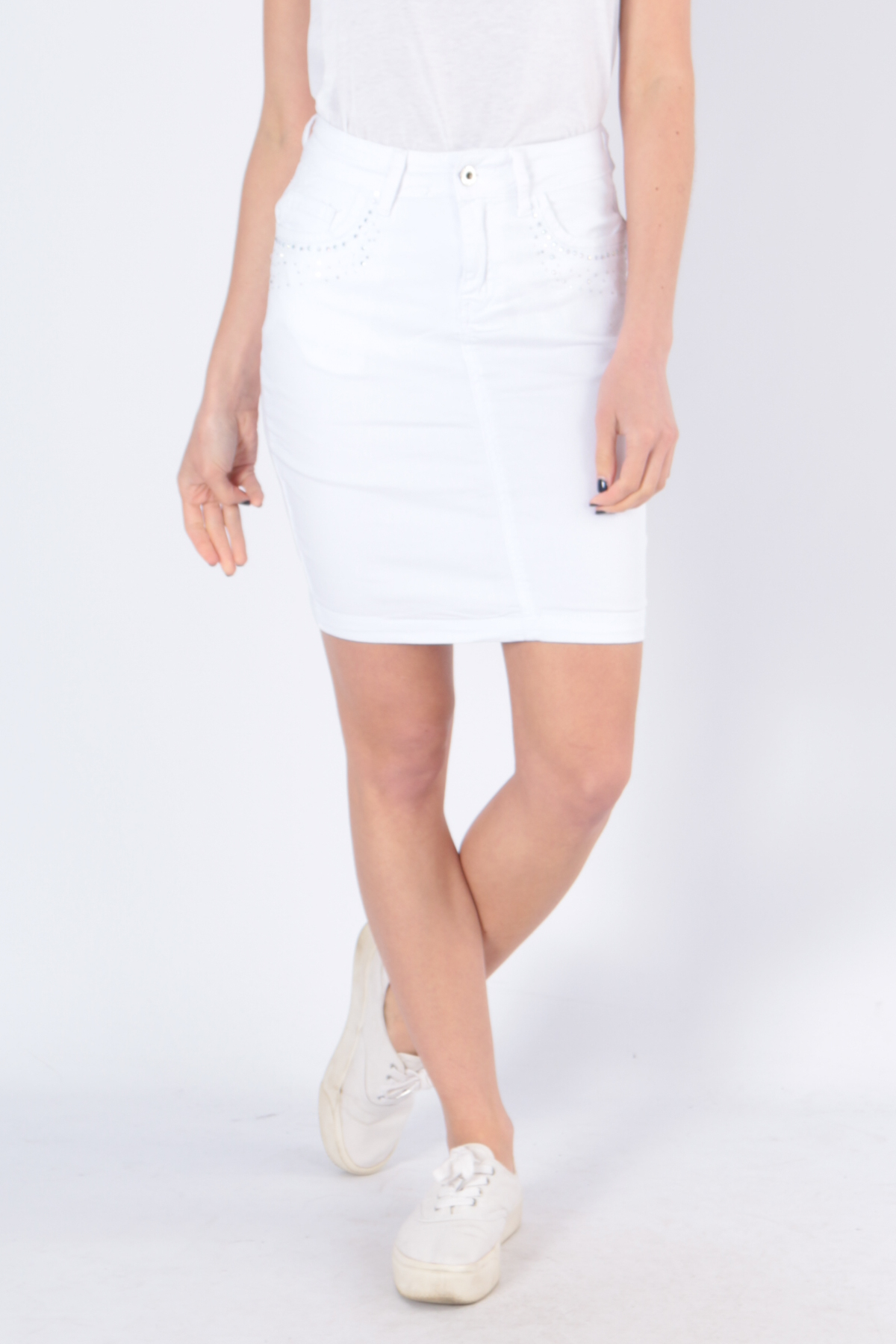 Jupes Femme B501-BLANC C.DENIM by ZAC & ZOE