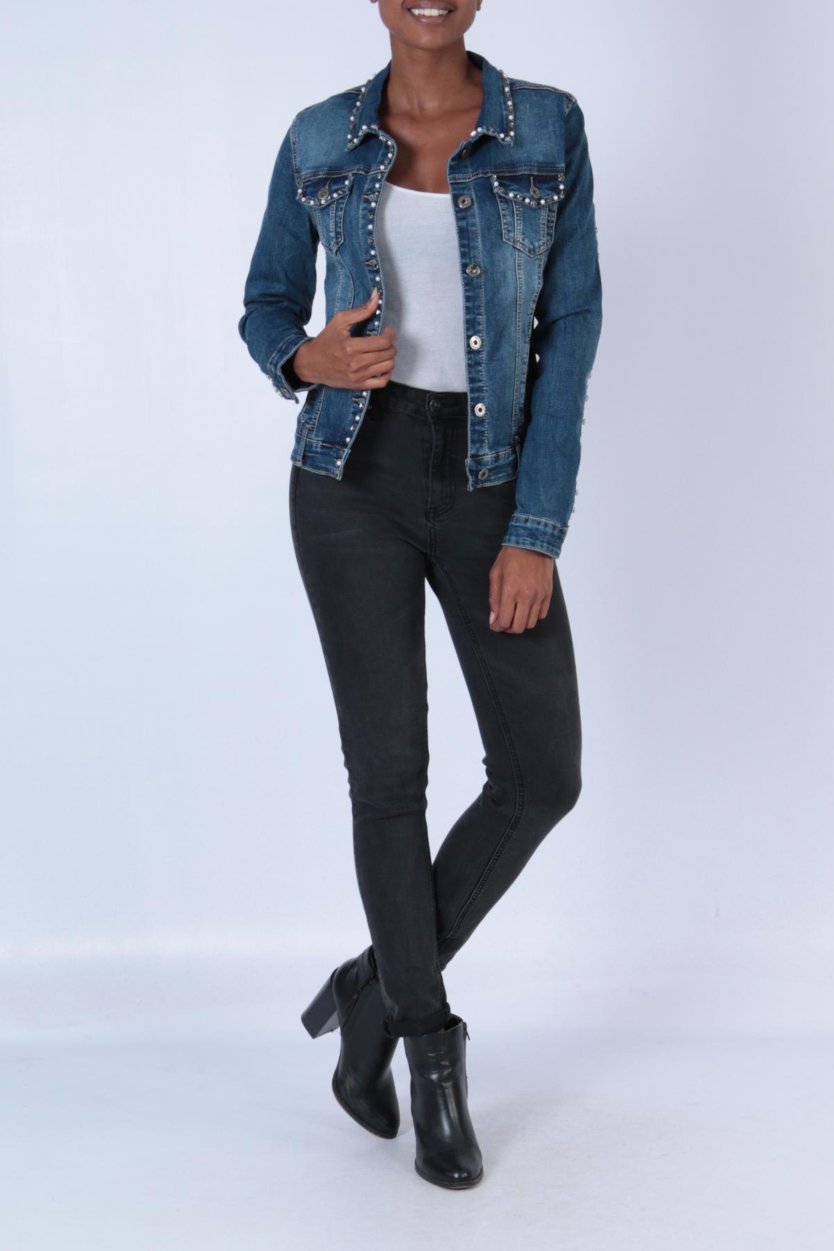 Vestes Femme E088-BLEU JEAN C.DENIM by ZAC & ZOE