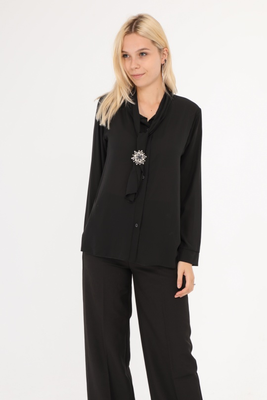 Chemises Femme Noir Adeline 10735 eFashion Paris