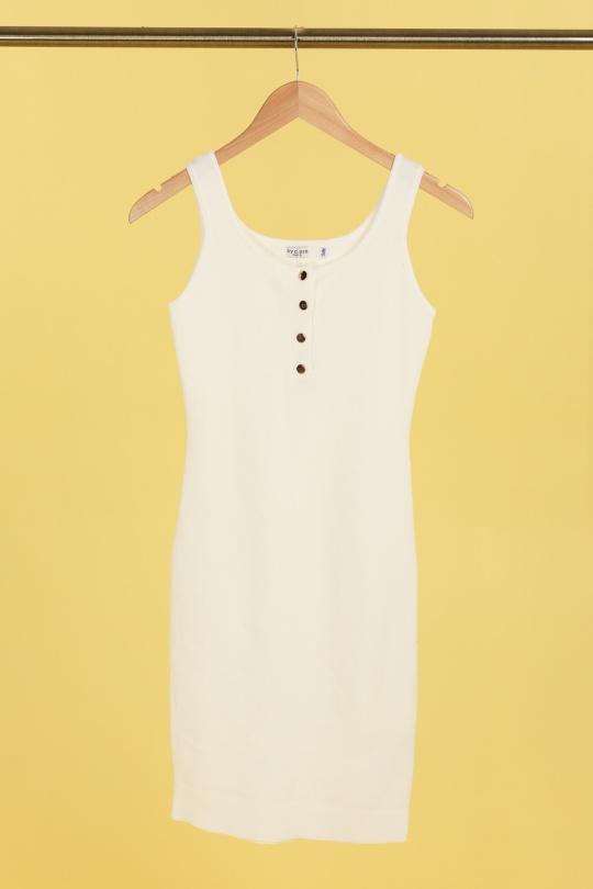 Robes courtes Femme Blanc By Clara 3023 eFashion Paris