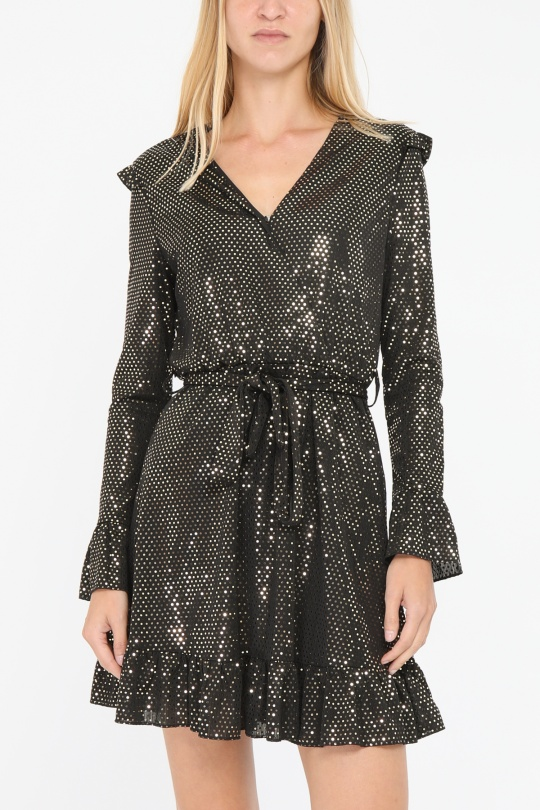 Robes courtes Femme Or By Clara F8041 eFashion Paris