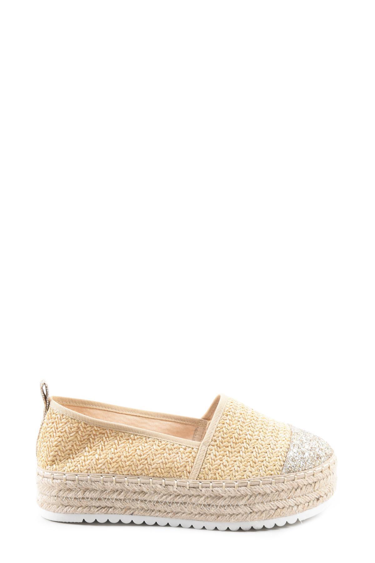 Espadrilles Chaussures Beige Erynn 9003-52 #c eFashion Paris