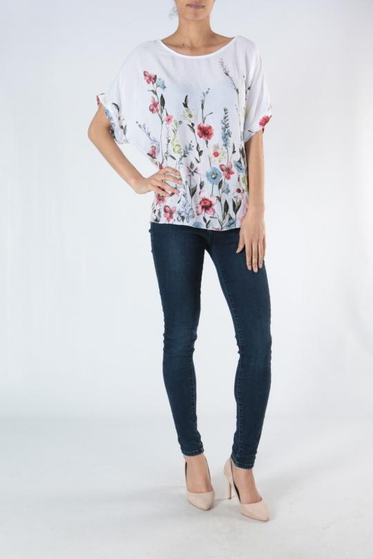 T-shirts Femme T102A-BLANC CHANA MOD