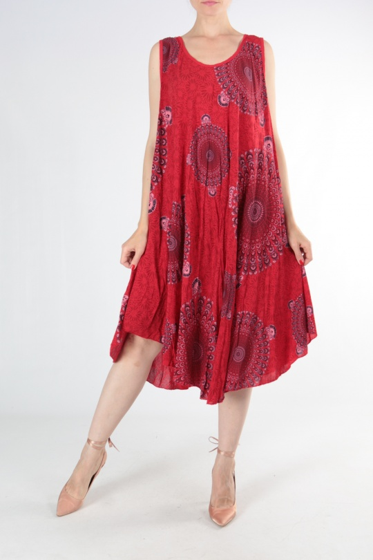 Robes mi-longues Femme Rouge CHANA MOD 6767 eFashion Paris