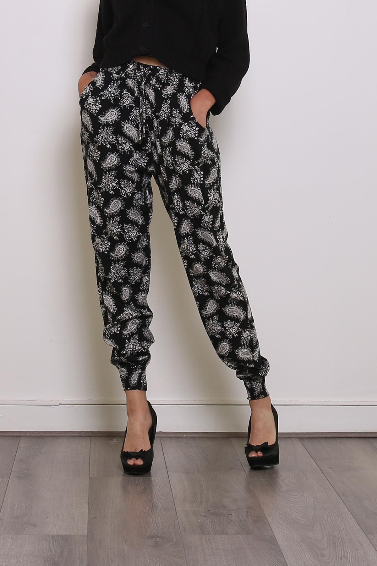 Pantalons Femme Noir CHANA MOD F72 #c eFashion Paris