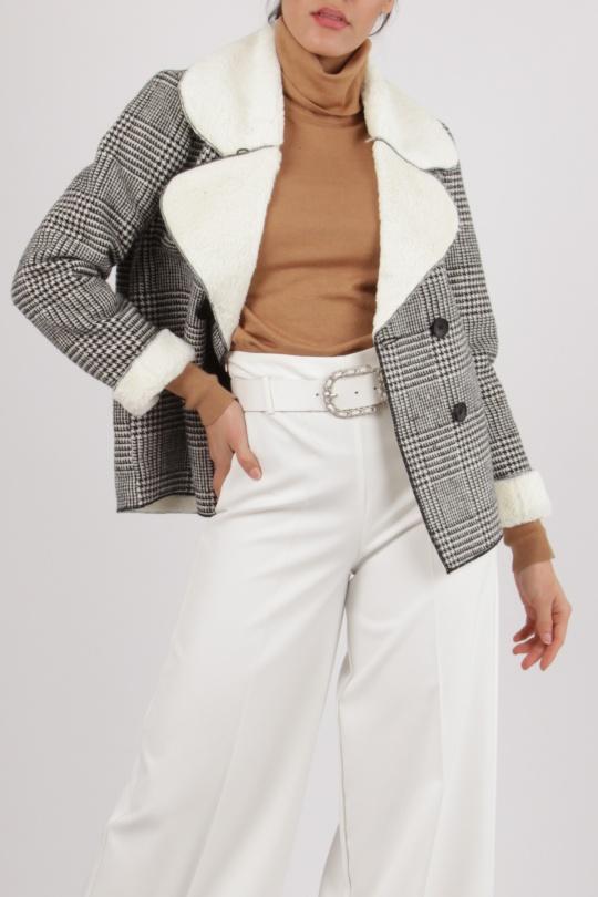 Chaquetas Mujer White LOVIE   Co QC18107  c eFashion Paris 1f0d33ee58c7