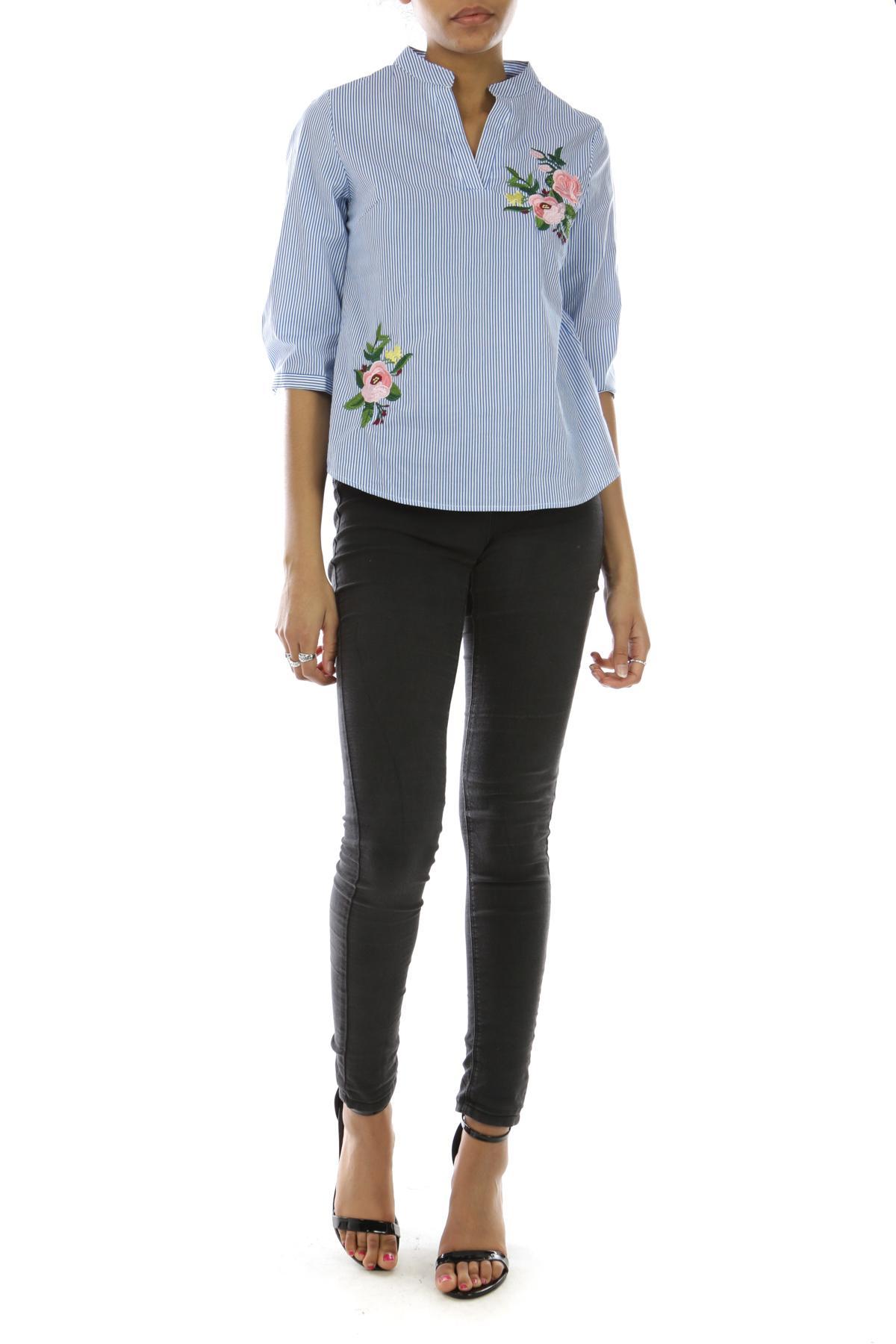 Chemises Femme C1808-MARINE Anna Ellis