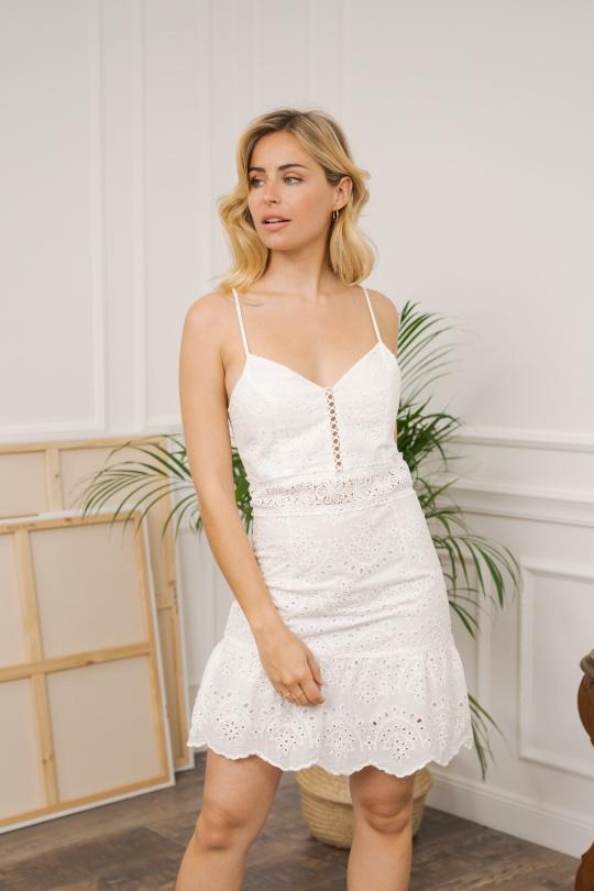 Robes courtes Femme Blanc Jayloucy  JC0756 eFashion Paris