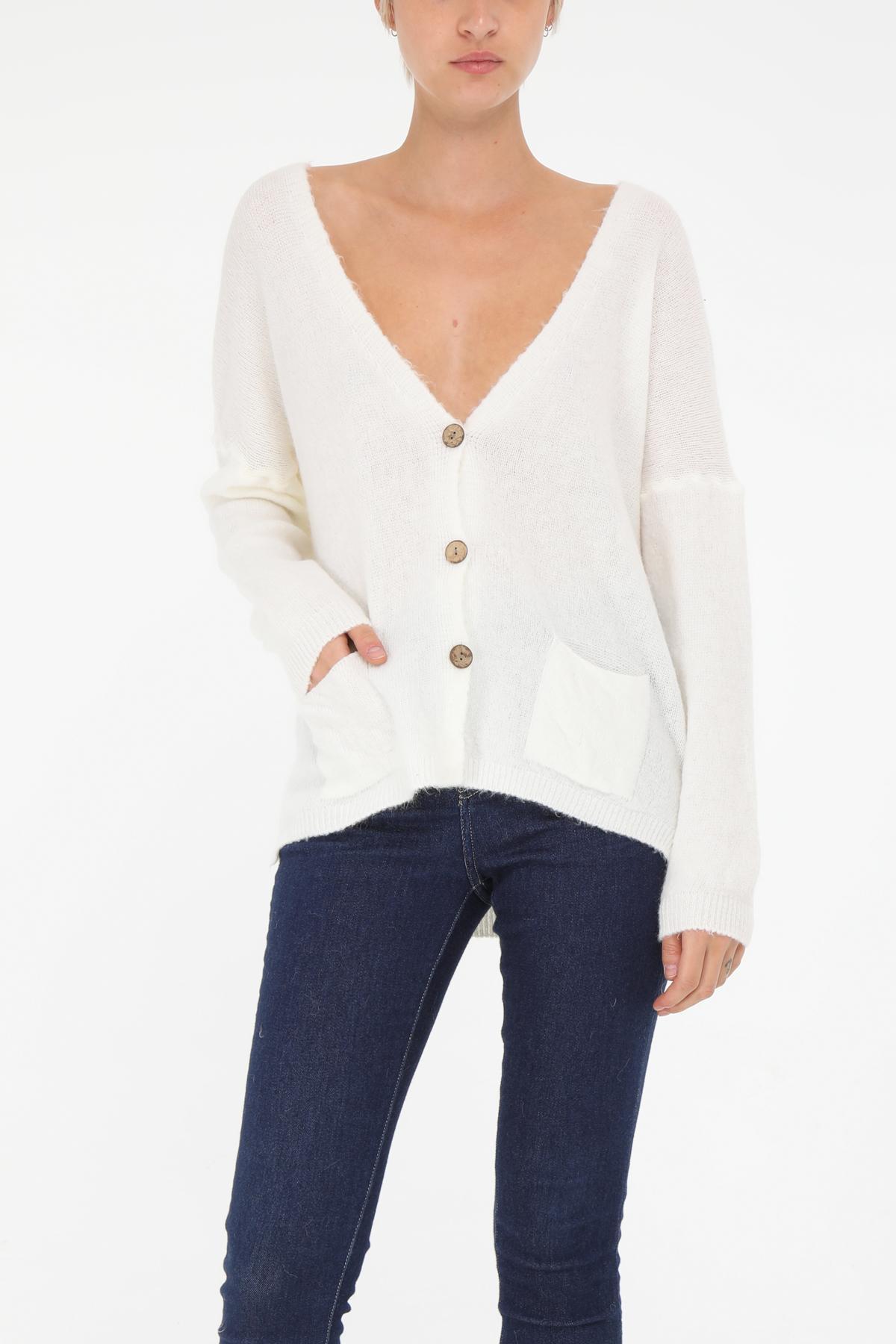 Pulls Femme Blanc YELLOZ E8001 #c eFashion Paris