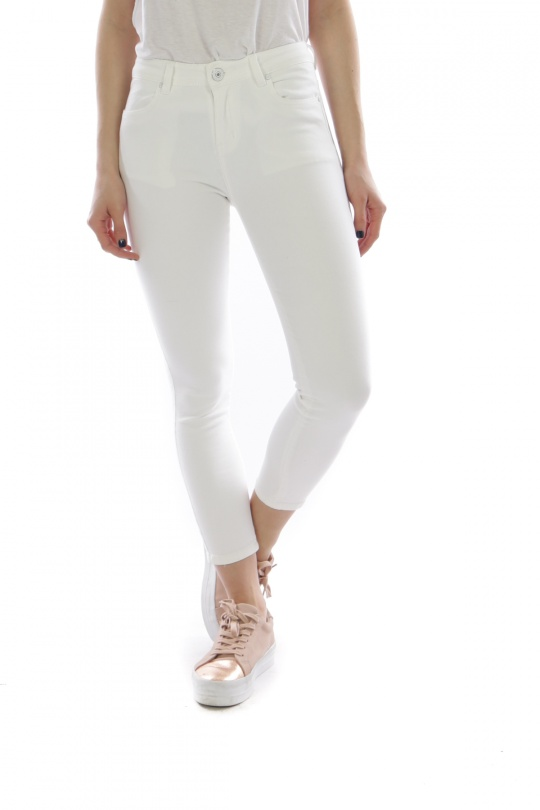 Jeans Femme Blanc LOVA CHIC H6123 eFashion Paris