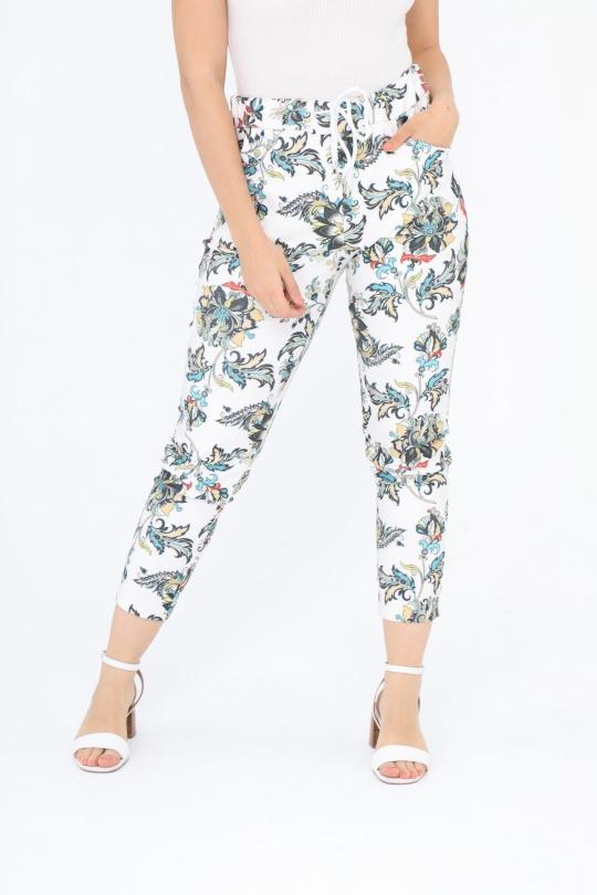 64b7bb3e11a1 Pantaloni Donna White C MELODIE CM001  c eFashion Paris