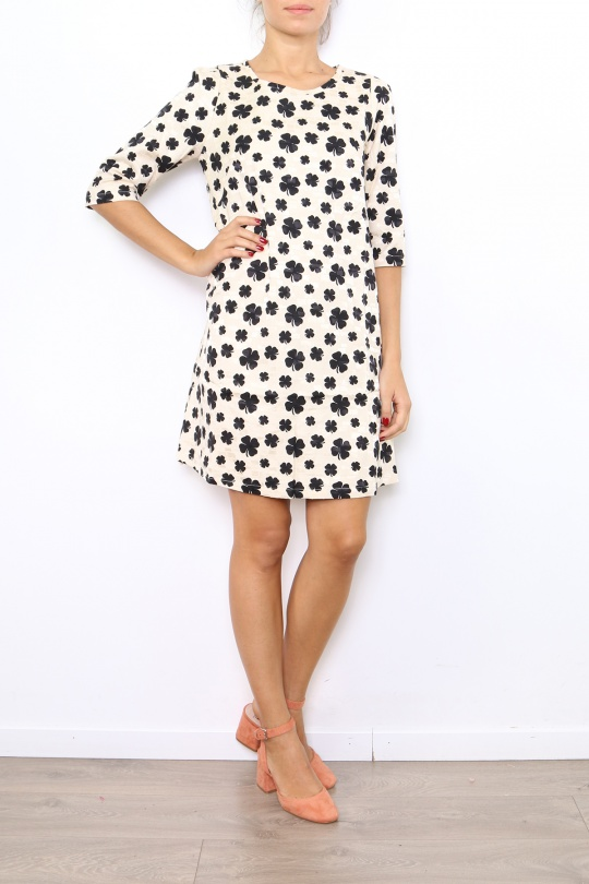 Robes mi-longues Femme 8639-BEIGE For Her Paris (SHINIE)