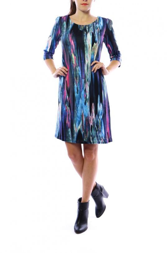 Robes mi-longues Femme Violet For Her Paris (SHINIE) 8669 eFashion Paris