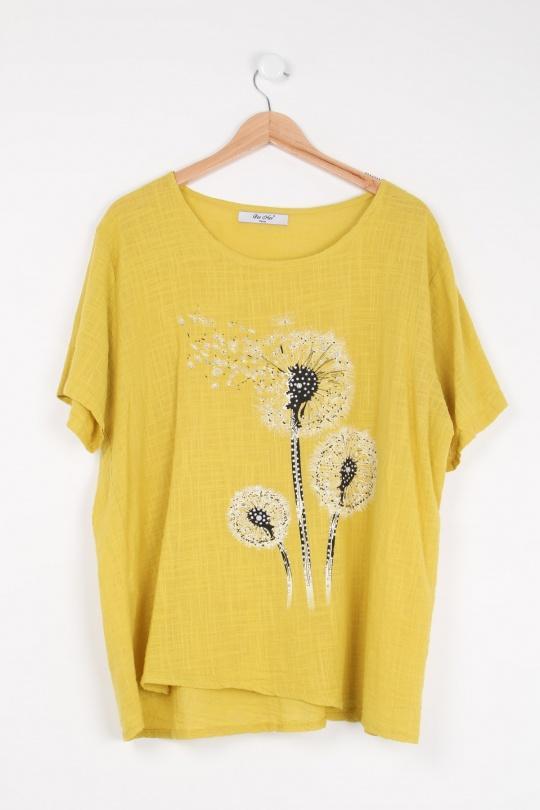 Chemises Femme Jaune For Her Paris (SHINIE) 9289 eFashion Paris
