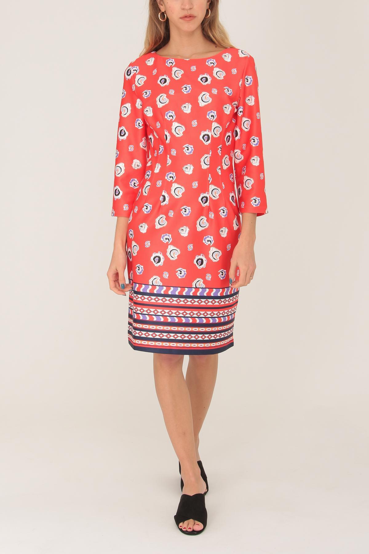 Robes mi-longues Femme Rouge For Her Paris (SHINIE) 1718 #c eFashion Paris