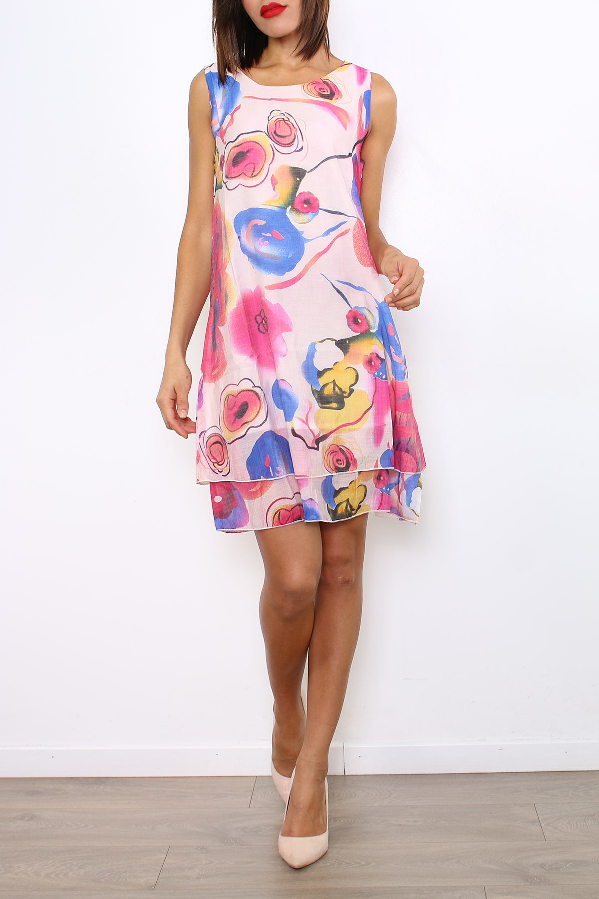 Robes longues Femme 2651-BLEU For Her Paris (SHINIE)