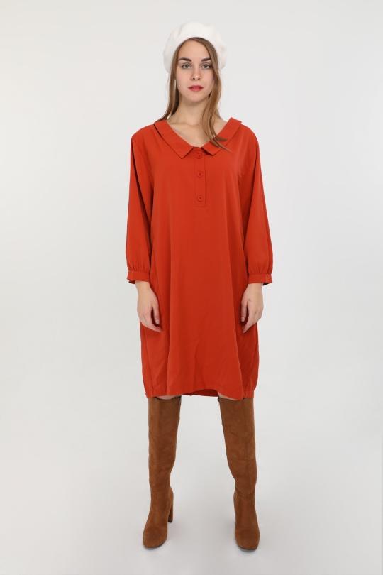 Robes mi-longues Femme Rouille S by Suzie C3001R eFashion Paris