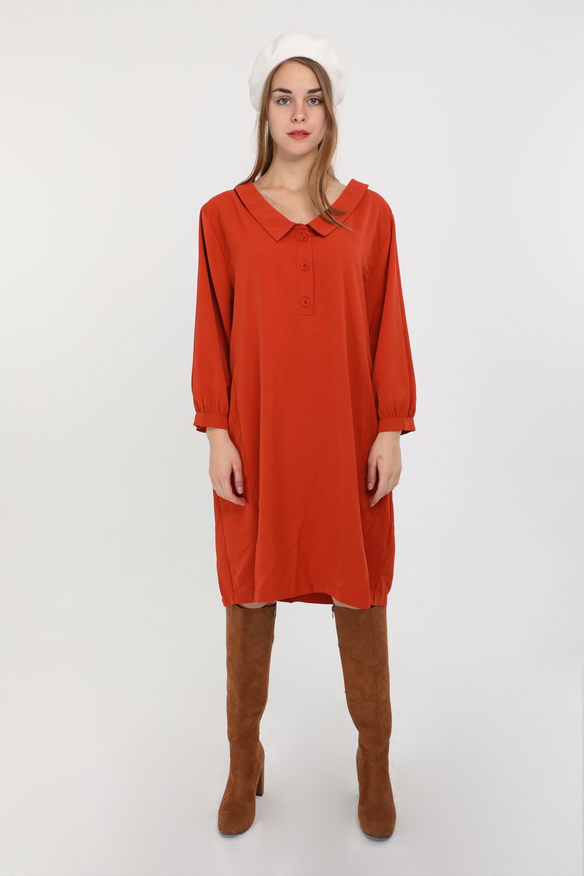Robes mi-longues Femme Rouille S by Suzie C3001R #c eFashion Paris