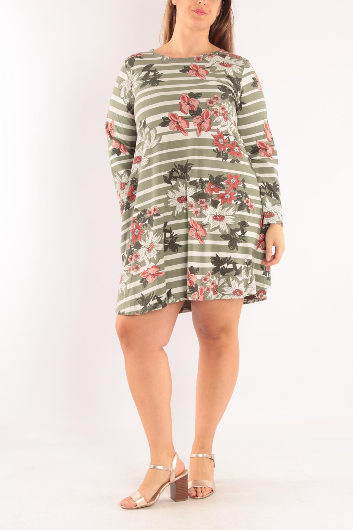 Robes Femme Kaki Ella Kingsley IT3382 #c eFashion Paris