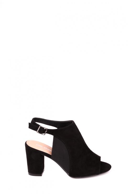 Sandales Chaussures Noir CHC Shoes N18-231 eFashion Paris